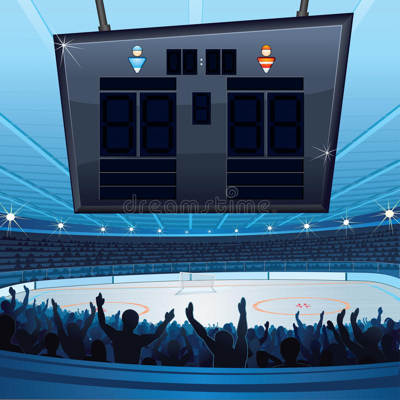 Stadio del hokey royalty illustrazione gratis
