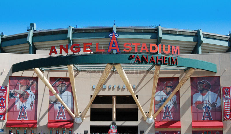 Stadio dell'angelo di Anaheim immagini stock libere da diritti