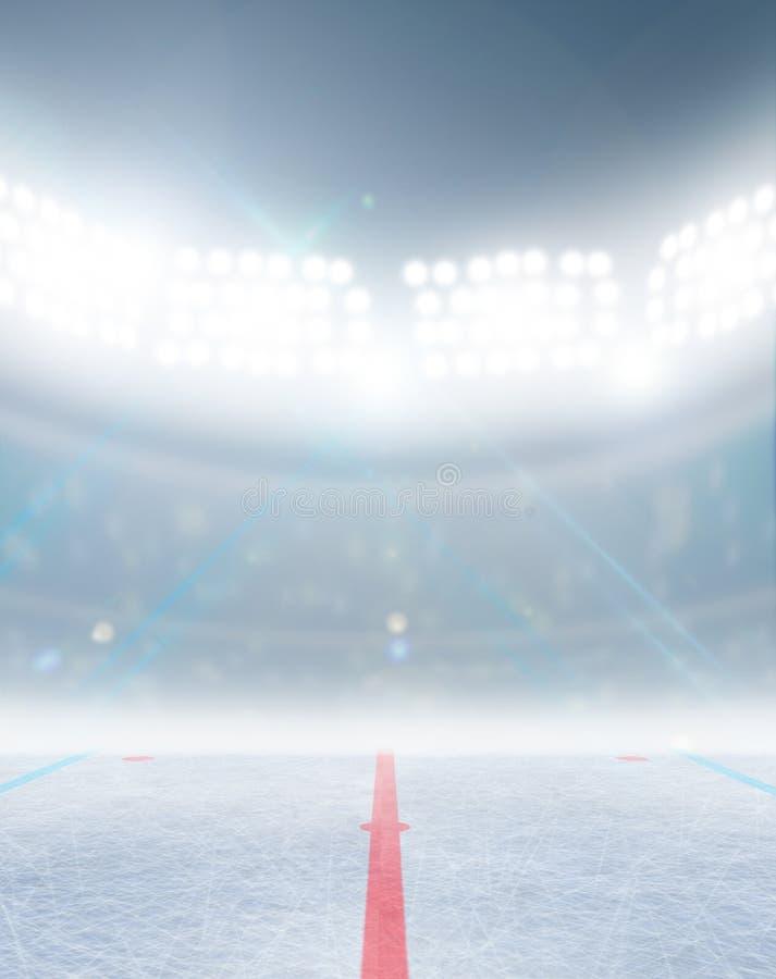 Stadio della pista di pattinaggio del hockey su ghiaccio royalty illustrazione gratis