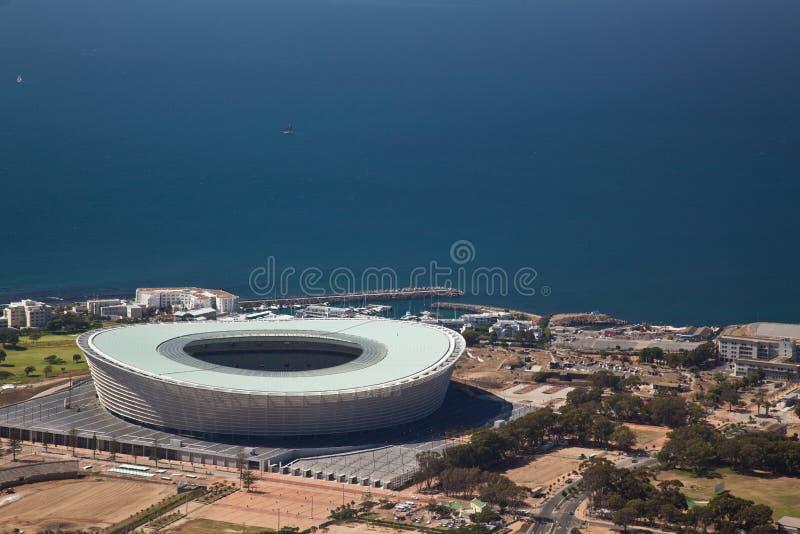 Stadio della tazza di mondo di Città del Capo fotografia stock libera da diritti