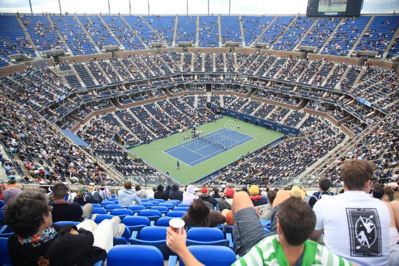Stadio di Ashe - gli Stati Uniti aprono il tennis fotografia stock libera da diritti