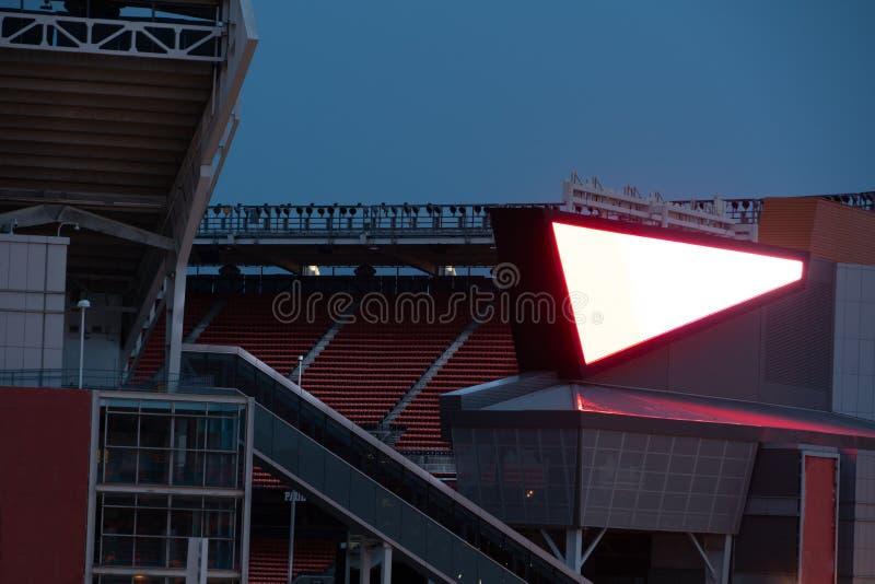 Stadio di calcio professionistico americano fotografie stock
