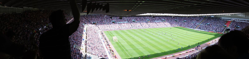 Stadio di calcio - stadio di Sunderland di indicatore luminoso fotografia stock