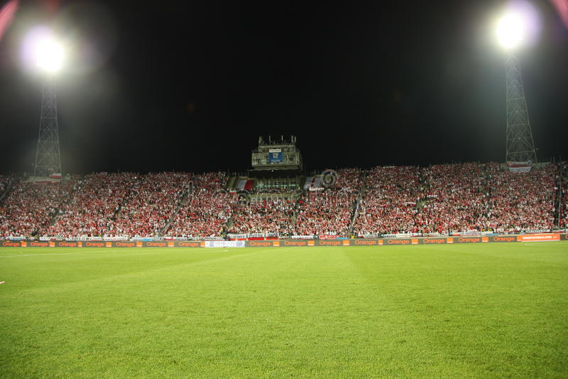 Stadio di football americano fotografie stock libere da diritti