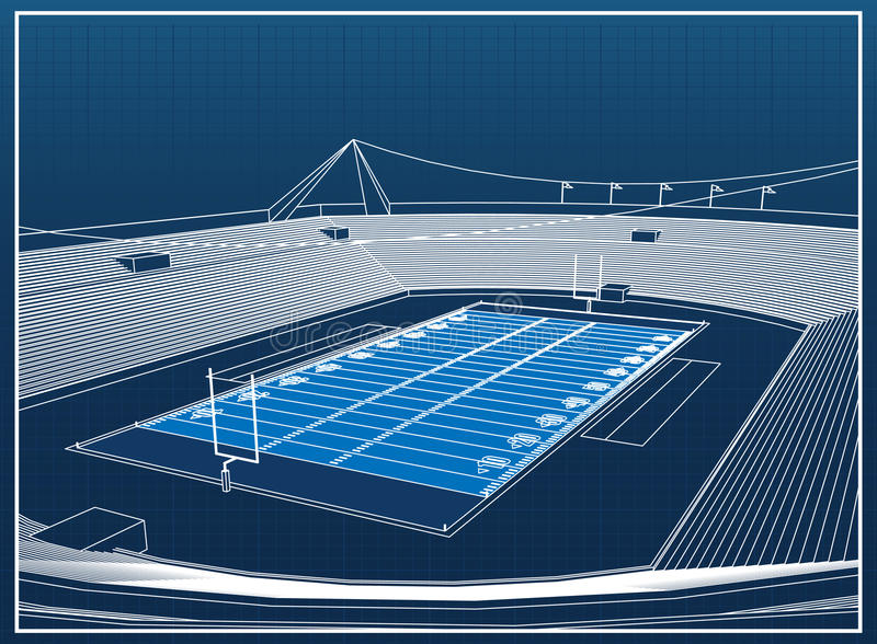 Stadio di football americano illustrazione vettoriale