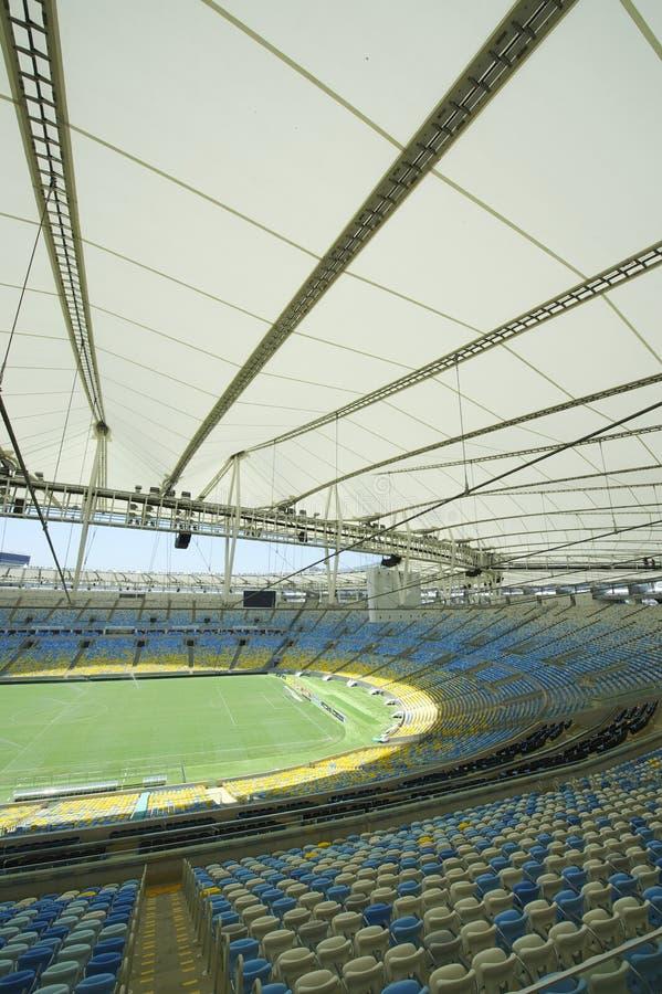 Stadio di football americano di Maracana dalla cima della tribuna immagini stock