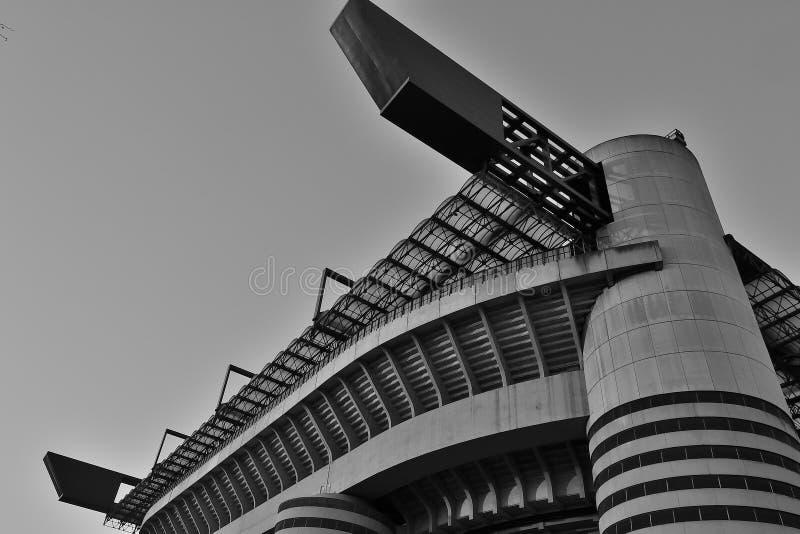 Stadio di football americano di San Siro nel monocromio fotografia stock