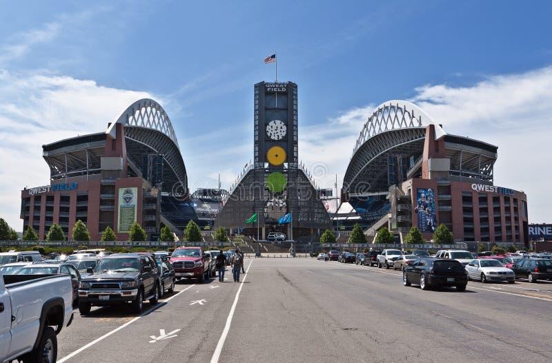 Stadio di football americano Seattle del campo di QWEST fotografia stock libera da diritti