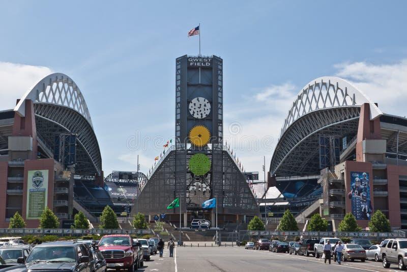 Stadio di football americano Seattle del campo di QWEST fotografia stock