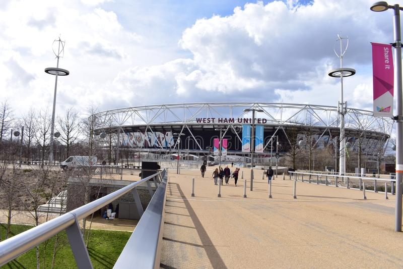 Stadio di football americano di West Ham fotografia stock