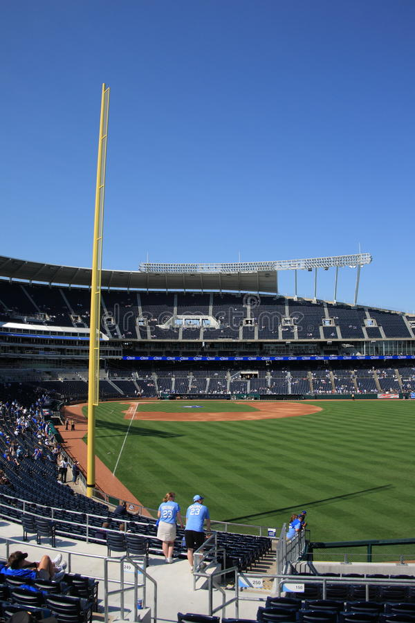 Stadio di Kauffman - Kansas City Royals fotografia stock