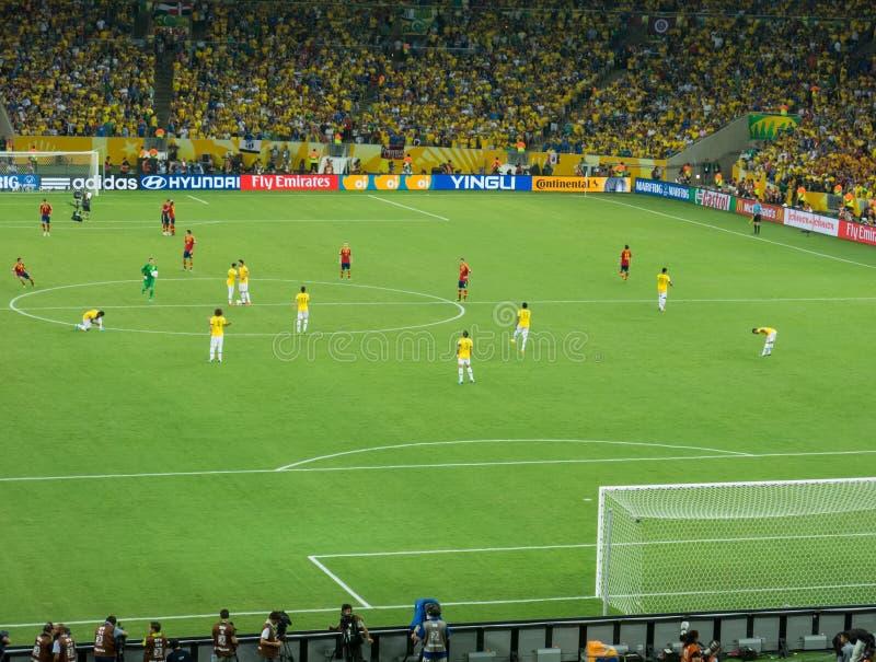 Stadio di Maracana - Brasile contro la tazza 2013 di confederazioni della FIFA - della Spagna fotografia stock