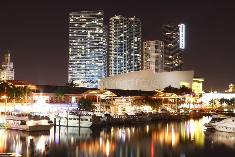 Stadio di Miami da Bayside fotografia stock libera da diritti