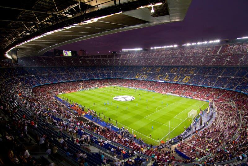 Stadio di Nou dell'accampamento, Barcellona fotografia stock