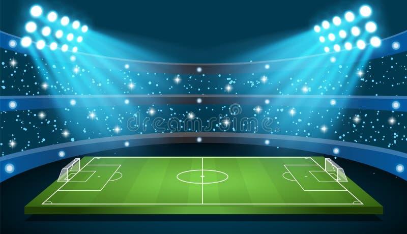 Stadio di vettore del gioco di calcio illustrazione di stock