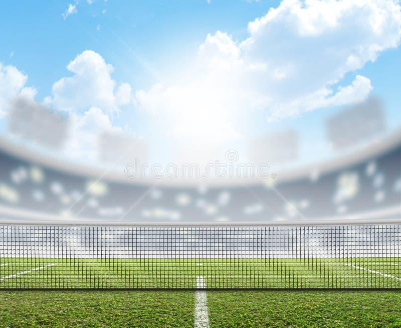 Stadio e campo da tennis fotografie stock libere da diritti