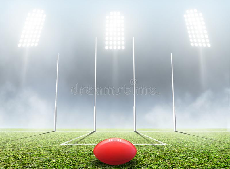 Stadio e pali di sport illustrazione di stock