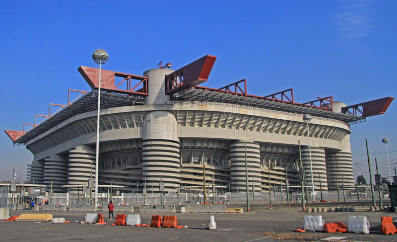 The Stadio Giuseppe Meazza, commonly known as San. Siro in Milan, Italy stock photos