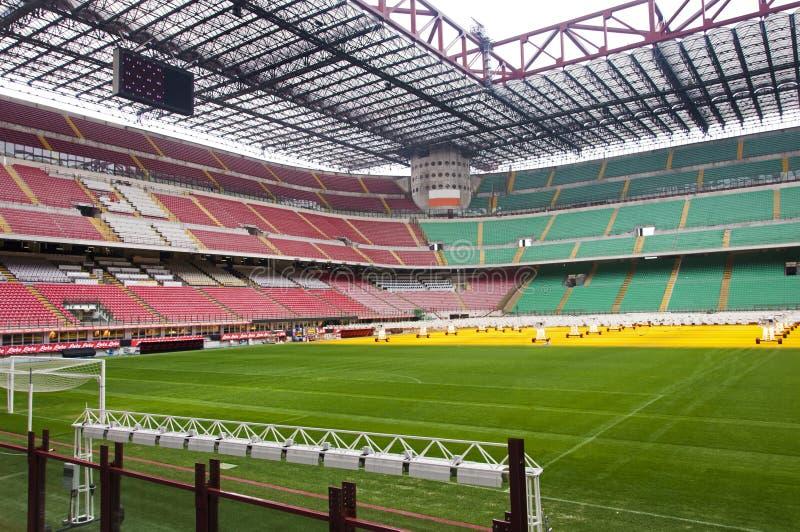 The Stadio Giuseppe Meazza. Milan, Italy. Empty Giuseppe Meazza stadium stock image