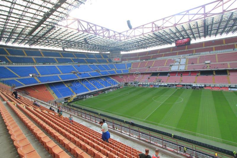 Stadio Giuseppe Meazza stadium w Mediolan, Włochy obrazy stock