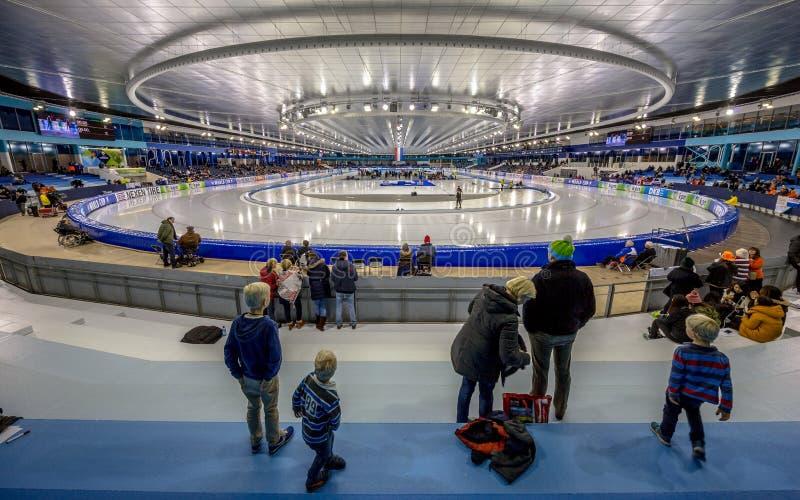 Stadio Heerenveen del ghiaccio di Thialf immagini stock libere da diritti