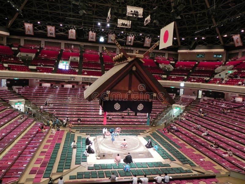 Stadio lottare di sumo a Tokyo, Giappone fotografie stock