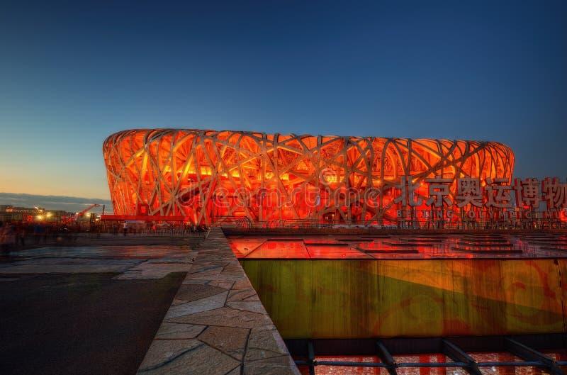 Stadio nazionale Pechino del nido del ` s dell'uccello fotografia stock