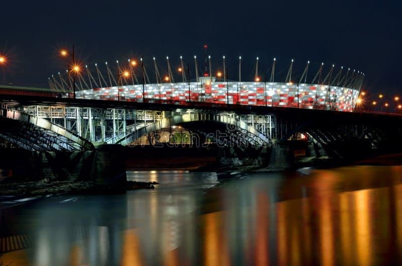 Stadio nazionale polacco Varsavia immagini stock libere da diritti