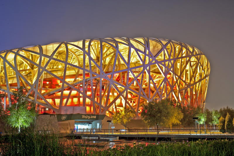 Stadio Olimpico Di Pechino Fotografia Editoriale