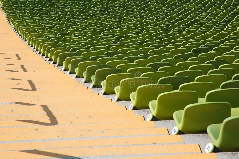 Stadio olimpico di sedili fotografie stock libere da diritti