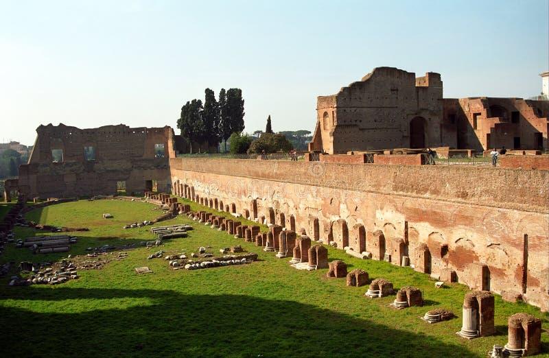 Stadio in Palatino, Rom, Italien lizenzfreie stockfotografie