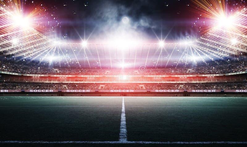 Stadio, rappresentazione 3d fotografia stock libera da diritti