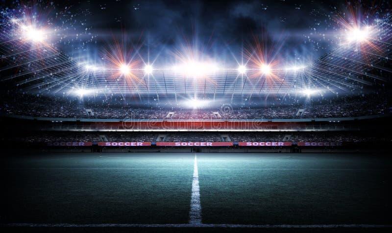 Stadio, rappresentazione 3d immagine stock libera da diritti
