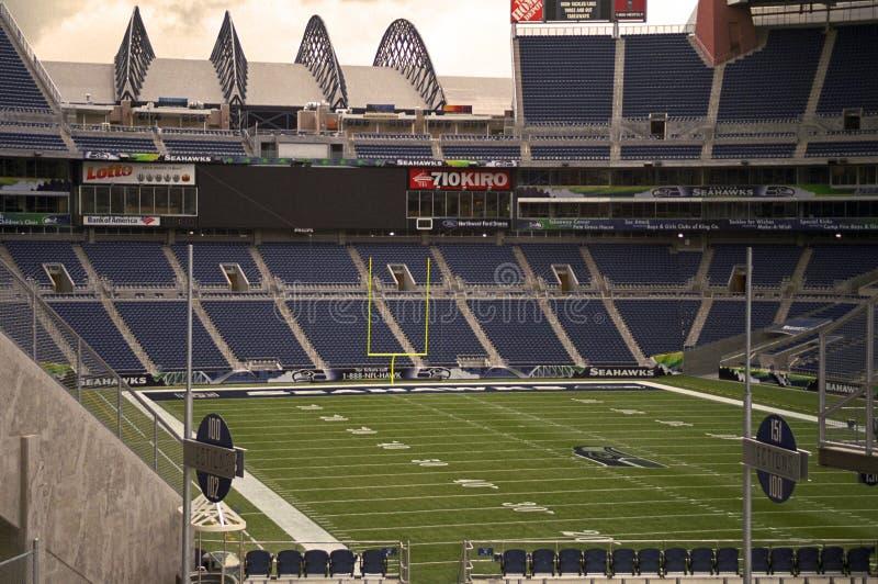 Stadio vuoto di football americano fotografia stock libera da diritti