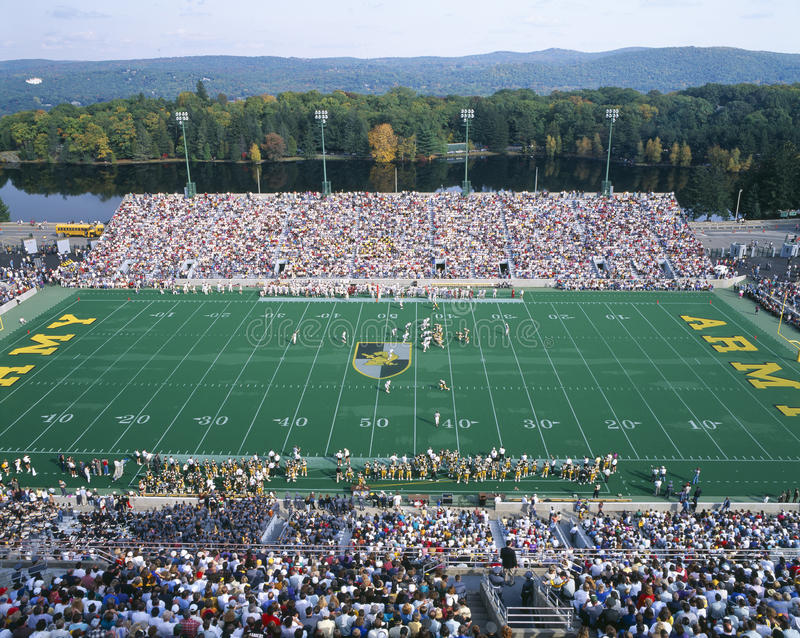 Stadio a West Point, esercito del Michael v Lafayette, New York immagini stock libere da diritti