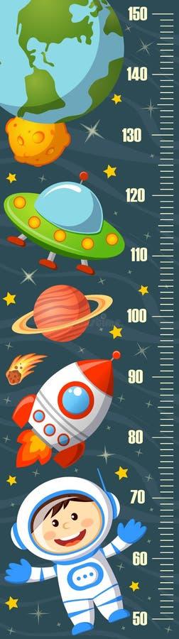 Stadiometer. Height measure. Meter wall. Vector illustration vector illustration