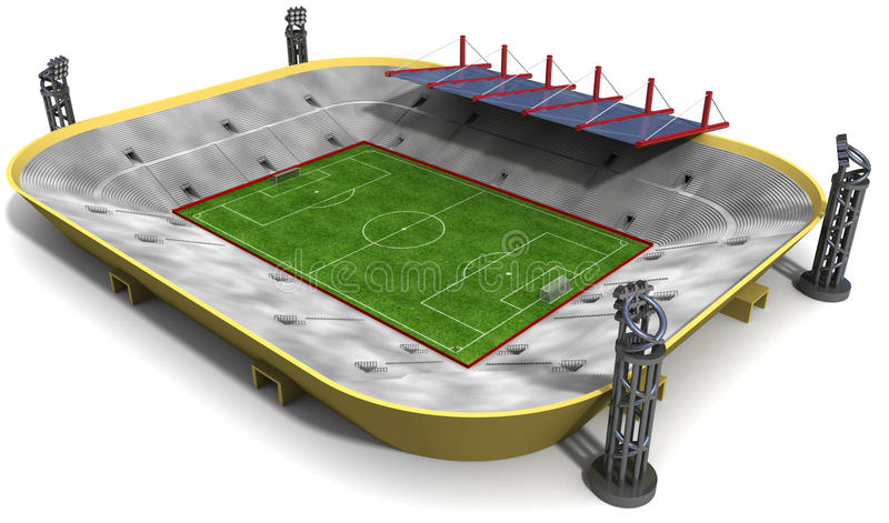Stadion stock illustrationer