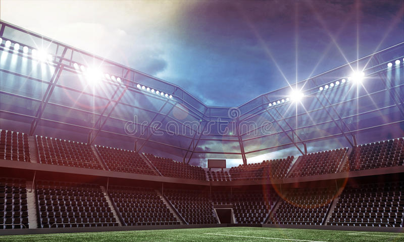 stadion royaltyfri illustrationer