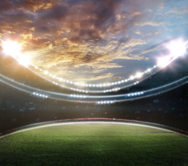 stadion stock illustrationer
