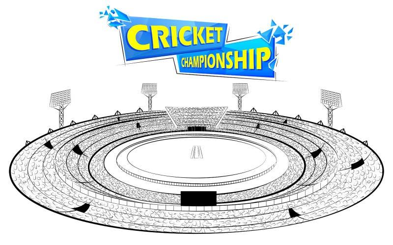 Stadion av syrsan med graden för champoinshipmatch stock illustrationer