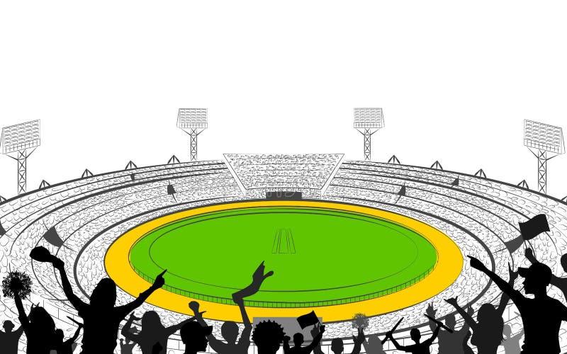 Stadion av syrsan med graden för champoinshipmatch royaltyfri illustrationer