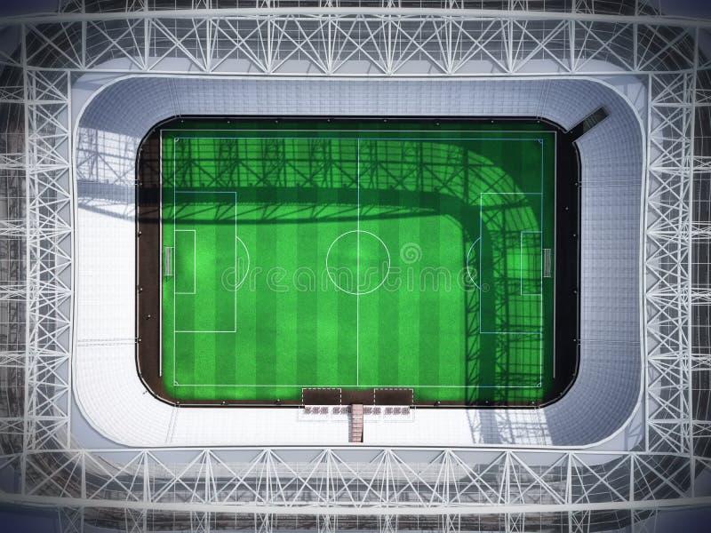 Stadion bästa 3d som framför den imaginära fotbollarenan stock illustrationer