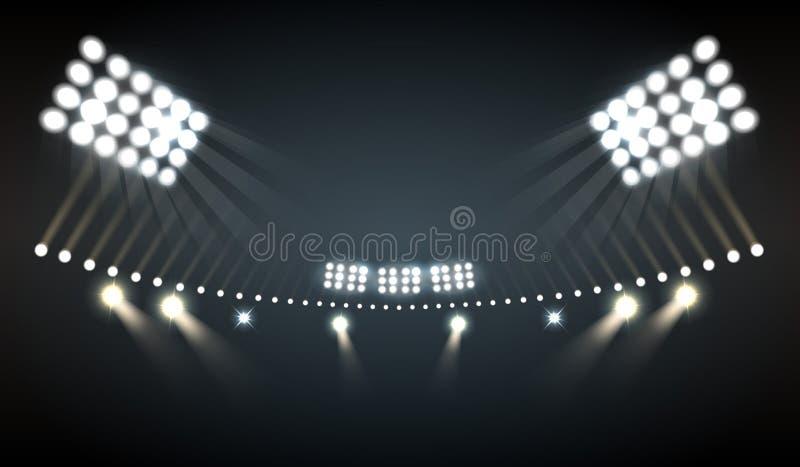 Stadion beleuchtet Hintergrund lizenzfreie abbildung
