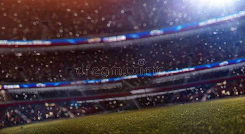 Stadion bokeh defocus 3d geef illustratie terug stock illustratie