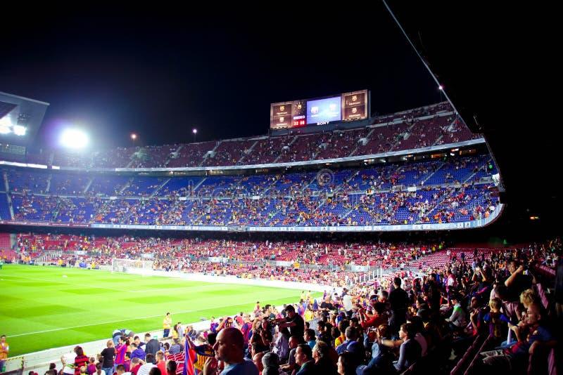 Stadion Camp Nou Barcelona arkivfoton