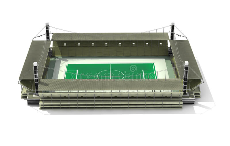 stadion 3d stock illustrationer