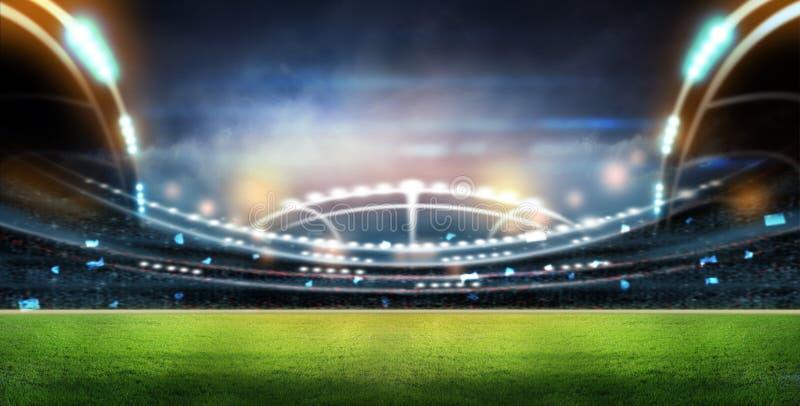 Stadion in den Lichtern lizenzfreie stockfotografie