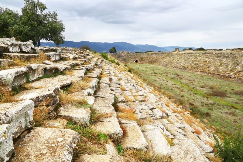 Stadion in der alten griechischen Stadt von Aphrodisias, die Türkei lizenzfreies stockfoto