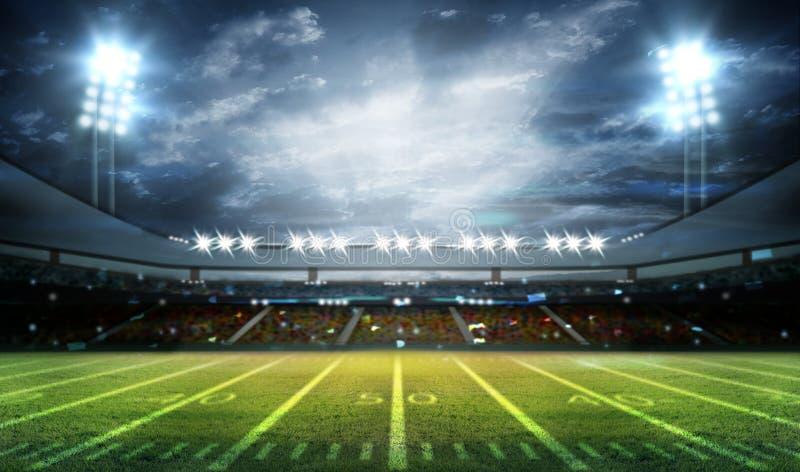 Stadion des amerikanischen Fußballs 3D stockfoto