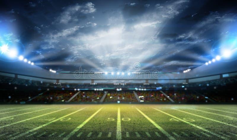 Stadion des amerikanischen Fußballs 3D stockbild